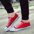 Women casual shoes new 2017 summer canvas shoes plus size 35-44 solid Lace up black/red flat shoes women sewing sapato feminino