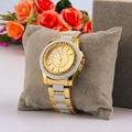 PAIDU 58928 Mujeres Reloj de Pulsera de Cuarzo de Acero Inoxidable Redondo Simular Diamond Decorar Venta Caliente