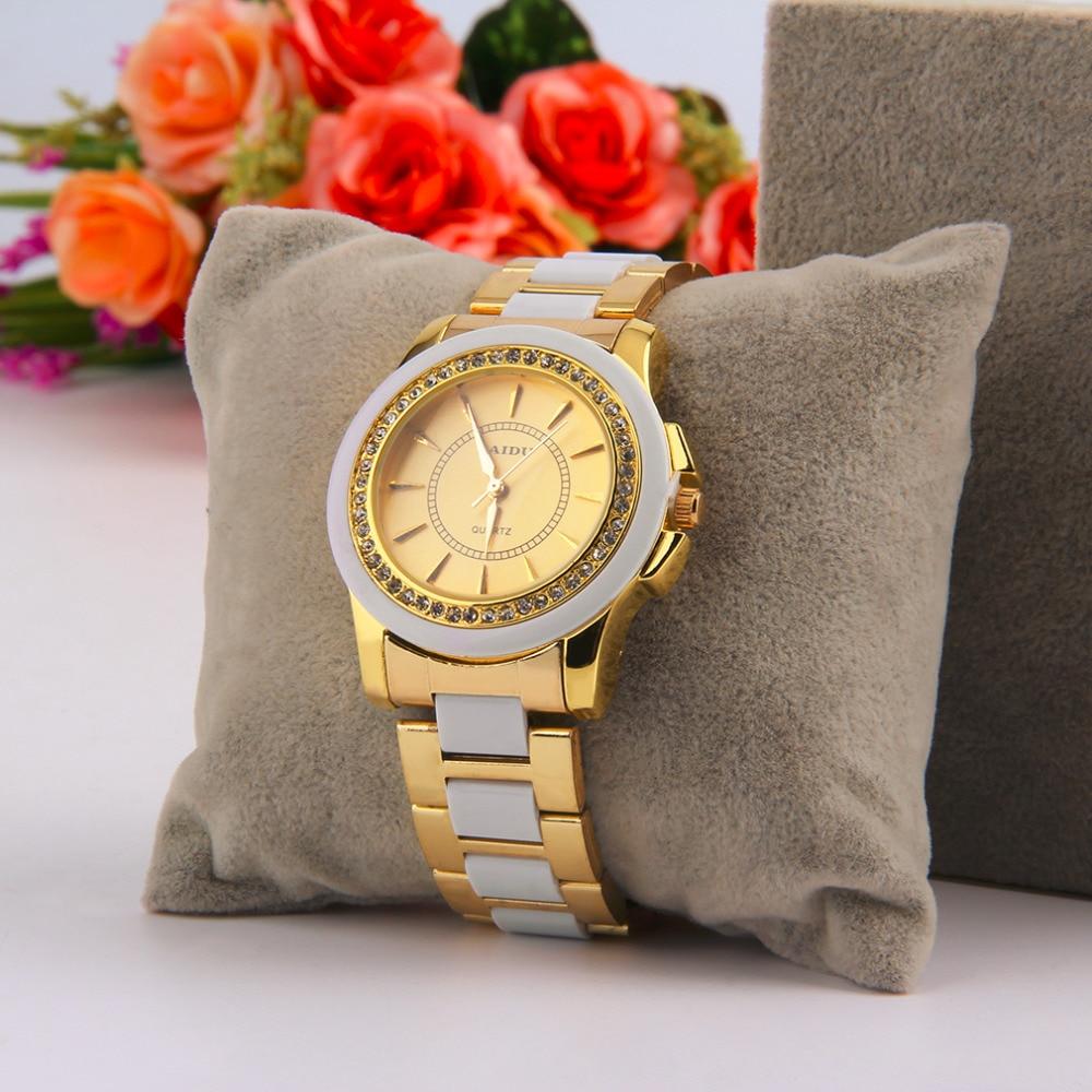 PAIDU 58928 Round Stainless Steel Quartz Women Wrist Watch Simulate Diamond Decorate Hot Selling hot selling stainless steel watch women