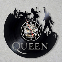 цена на Queen Rock Band Wall Clock Modern Design Music Theme Classic Vinyl Record Clocks Wall Watch Art Home Decor Gifts for Musician