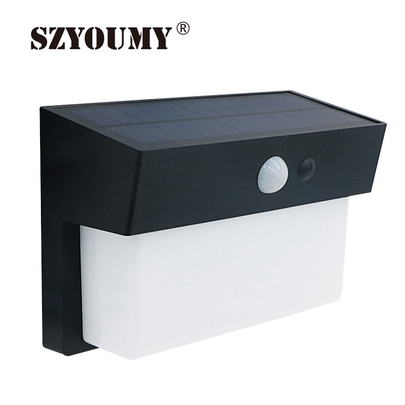 SZYOUMY 50 LED Solar Multifunction Intelligent Solar PIR LED Wall Lamp Waterproof Outdoor Garden Light Built in 5000mah Battery|Solar Lamps| |  - title=