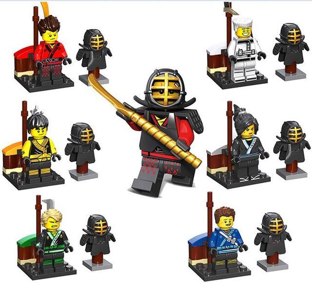 Us 855 6 Stücke Ninjago Kendo Ausbildung Kleid Anzug Abbildung Cole Kai Jay Lloyd Nya Ninja Building Bricks Kompatibel Mit Lego Block In 6 Stücke