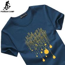 Pioneer Camp 2017 new fashion summer short men t shirt brand clothing cotton comfortable male t-shirt tshirt men clothing 522056