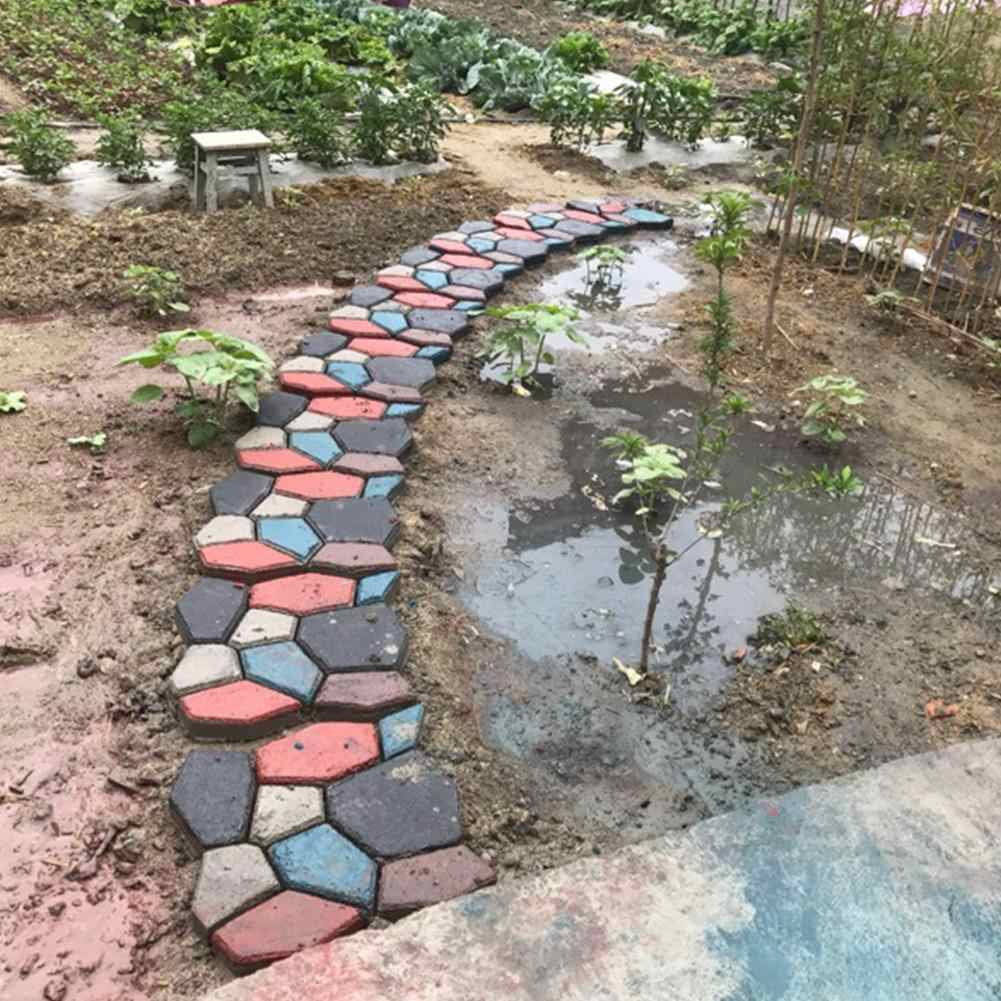 Форма для садового тротуара, Черная Пластиковая форма для изготовления тротуарной плитки, форма для дома, сада, пола, дороги, бетона, шаговой дорожки, каменной дорожки