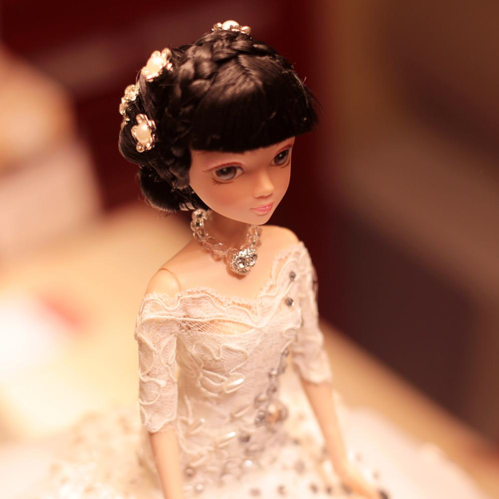 D0376 Best girl gift 48cm Kurhn Princess Doll with large wedding dress Gift Luxury Dress set handemade Romantic Bride 10