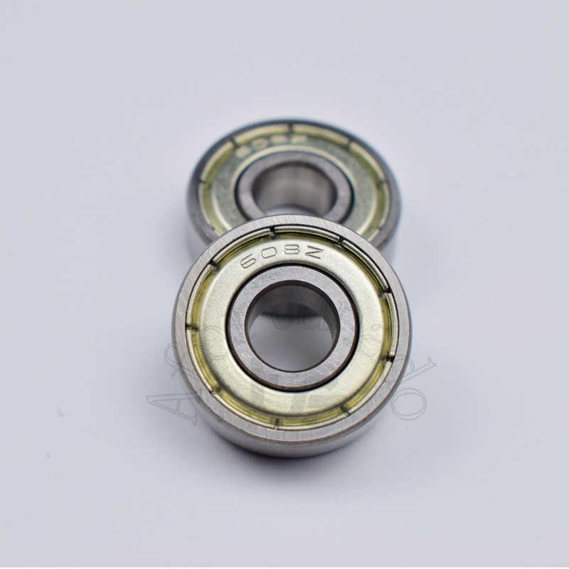 608ZZ 8*22*7(mm) 10pieces bearing free shipping ABEC-5 metal Sealed chrome steel bearings use to skateboard Roller skates