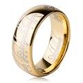 Размер США 6 до 15 Властелин колец Одно Кольцо 8 мм женщин Людей Карбида Вольфрама Свадьба Обручальное кольцо Мода Фильм ювелирные изделия