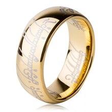 El Tamaño de EE.UU. 6 a 15 El Señor de Anillo de Uno de potencia 8mm hombres Carburo de Tungsteno de Las Mujeres Wedding Engagement Banda Moda Película joyería