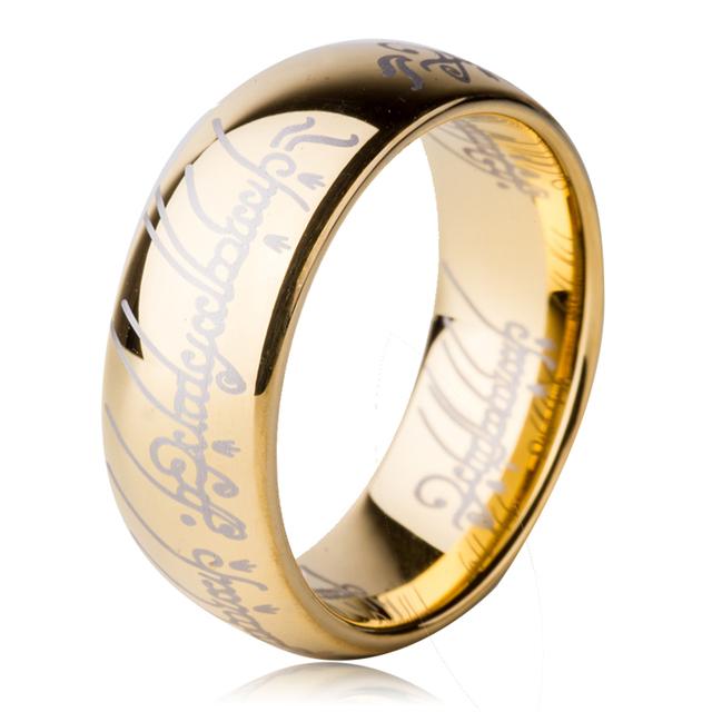 Tungsten Carbide Wedding Ring Gold