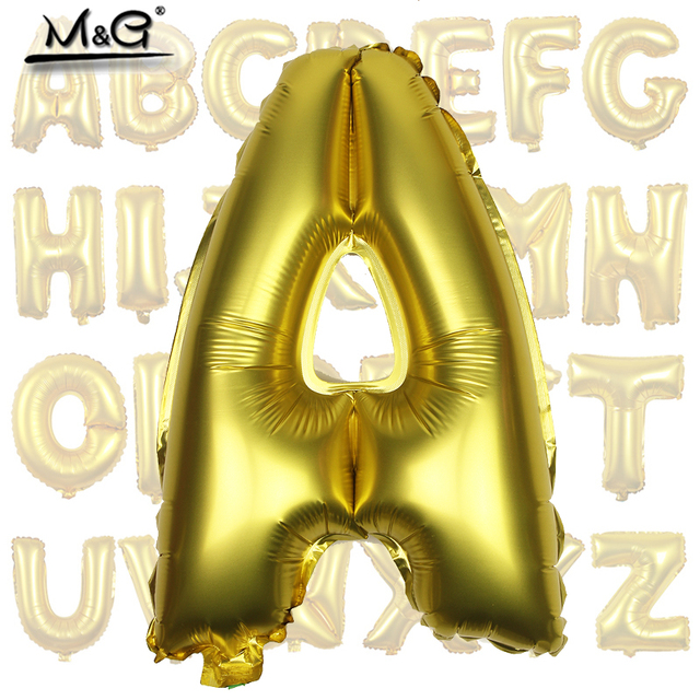 1pcs 16 Inch Matte Golden Aluminum Foil Balloon Wedding Decorate
