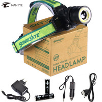 10000Lumens XM L T6 COB LED Headlamp Head Lamp Zoomable 4 Modes Headlight 18650 Head Flashlight