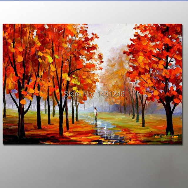 cheap buy Maple Leaf oil painting ! buy cheap free shipping oil ...
