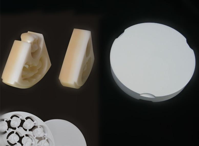 6 Farve lag Dental anterior Zirconia Zirkon Zahn CAD CAM Blok, 600Mpa, dental lab materiale