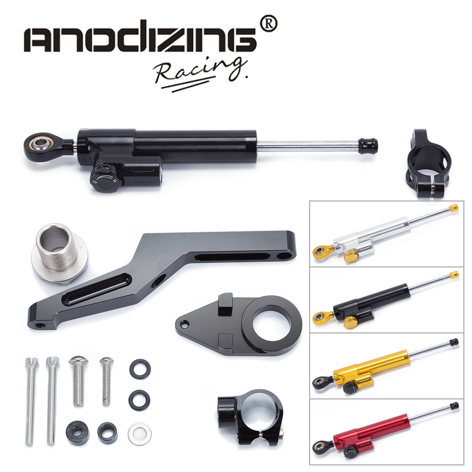 FREE SHIPPING For KAWASAKI ZX-6R ZX 6R 2009-2016  Motorcycle Aluminium Steering Stabilizer Damper Mounting Bracket Kit free shipping new style motorcyle accessories carbon fiber motorcycle exhaust pipe muffler for kawasak zx 6r zx 9r zx 10r