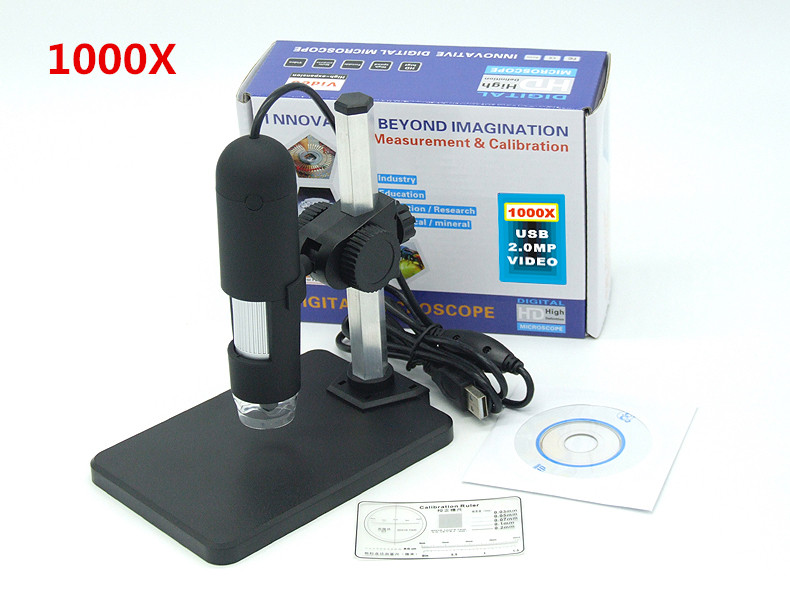 Neueste usb digital mikroskop mit halter stehen led ultra