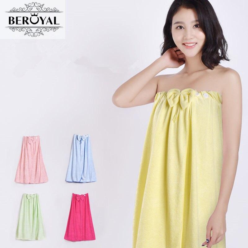 Beroyal Brand Super Absorbent Bamboo Bath Towel Quick Dry Lady Beach