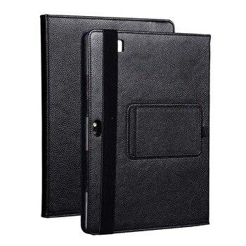 Fashion Black Litchi Grain PU leather Protective Folding Folio Case for HP Elite X2 1012 G1 for 12