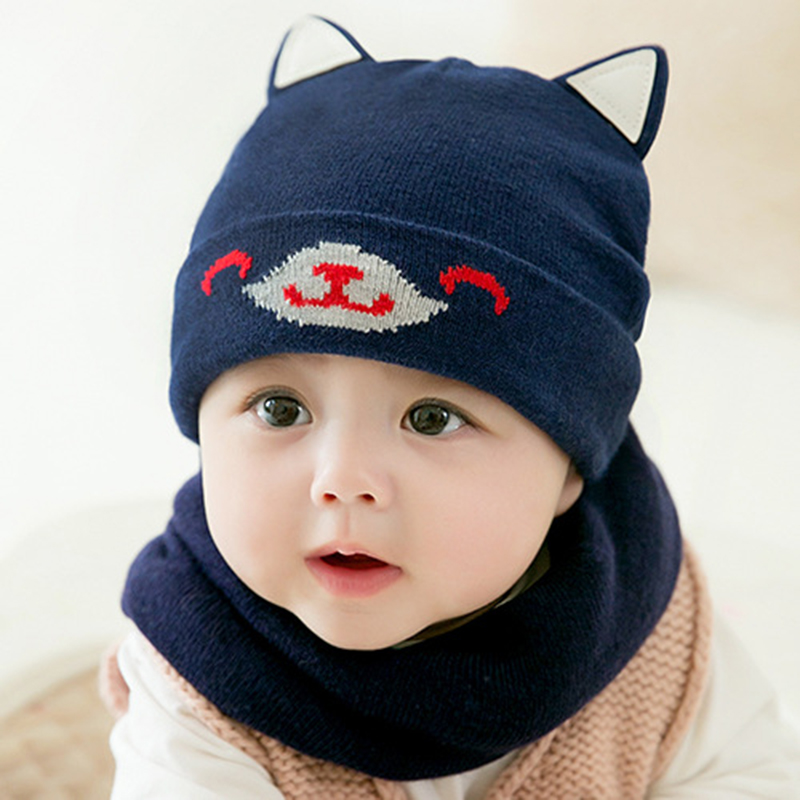Cokk Winter Hat And Scarf Set For Girls High Quality Knitted Cap Kids Hat Ear Flaps Thick Warm Boy Children Hat Set With Pompom Girl's Accessories