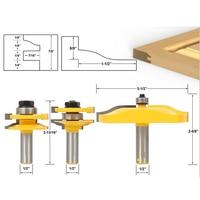 High Quality 3PCS Shank Ogee Rail Stile Lama Mobile Panel Router Bit Cove Raised Panel Tools