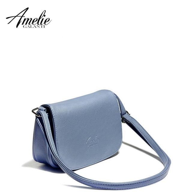 34d53f9b4512 AMELIE GALANTI casual crossbody bag small designer for women fashion solid  soft bags portable saddle cover zipper versatile
