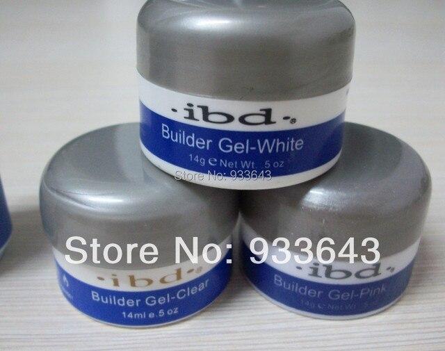 14 g / 0.5 oz  5pcs/lot Acrylic Nail Art UV Gel nail saloon ibd Builder Gel Nail clear pink white color can be choosen