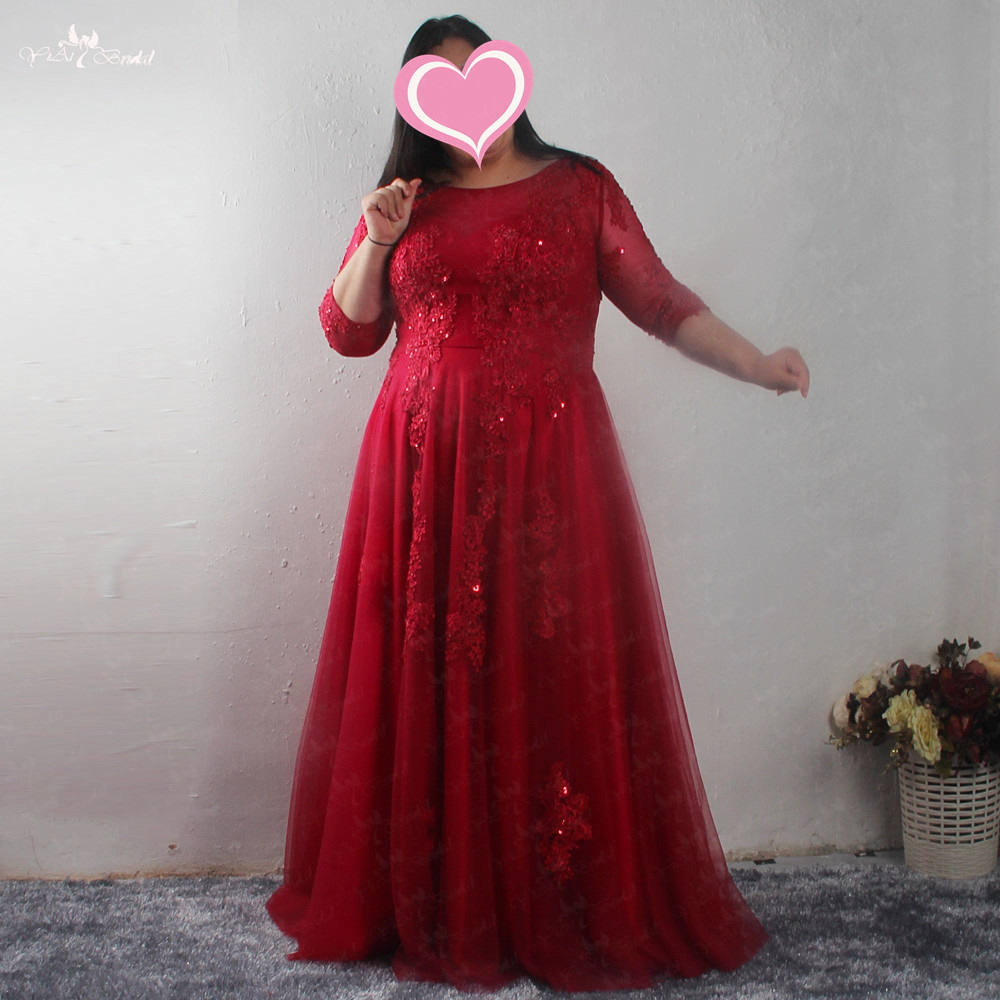 LZF093 Elegant Women Beading Red   Dresses   Appliques Long Prom Female Party   Dresses   Plus Size   Evening     Dress