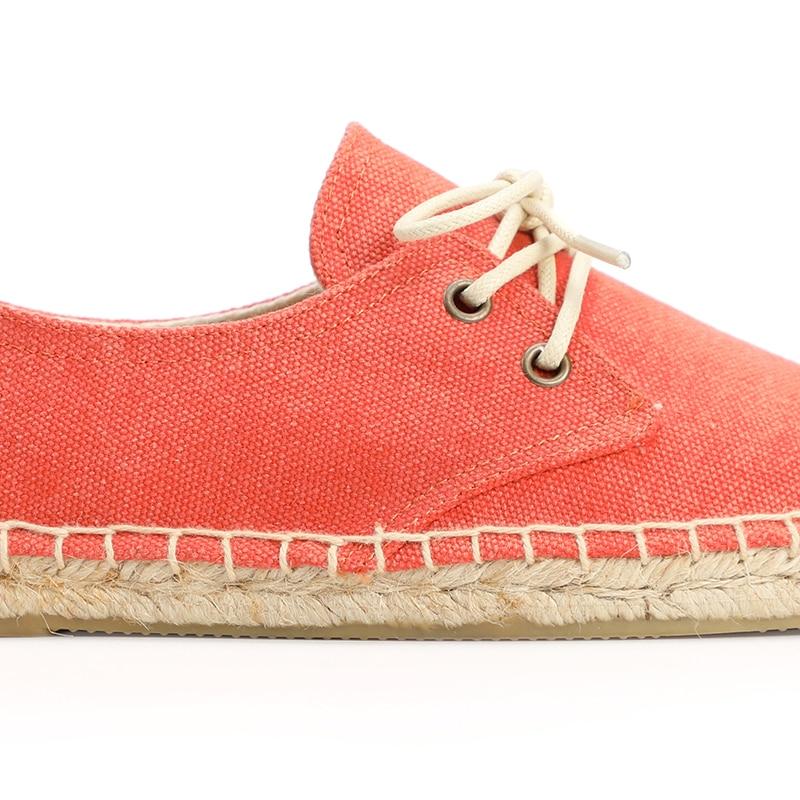 lace Stop118 orange ผู้หญิงคลาสสิกแบนรองเท้าผ้าใบ