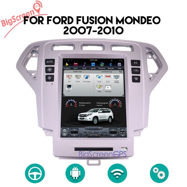 10 4 Tesla Type Android 6 0 For Ford Fusion Mondeo 2007 2008 2009 2010 Car Dvd Player Navigation Gps Radio 1280x800 Stereo Wifi