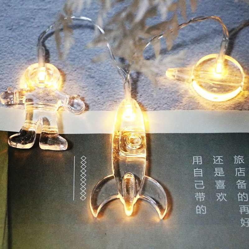 Астронавт светодиодный батарея для светящейся гирлянды фестиваль украшения лампы DIY милые спальни огни на водонепроницаемые уличные фонари