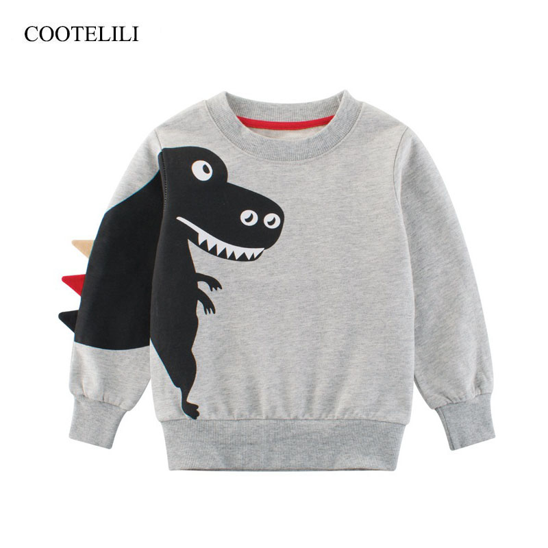 Radient Cootelili Dinosaurier Kleidung Baby Jungen Nette Tier Frühling Herbst Hoodies Sweatshirts Kinder Jungen Hoodies Langarm Tops 90-140 Cm Pullover Sweatshirts