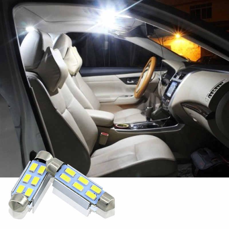 2X36 Mm Tidak Ada Kesalahan Lampu Plat Nomor Lampu LED C5W Putih untuk Renault Megane II Renault indah, Fluence, Laguna Dll