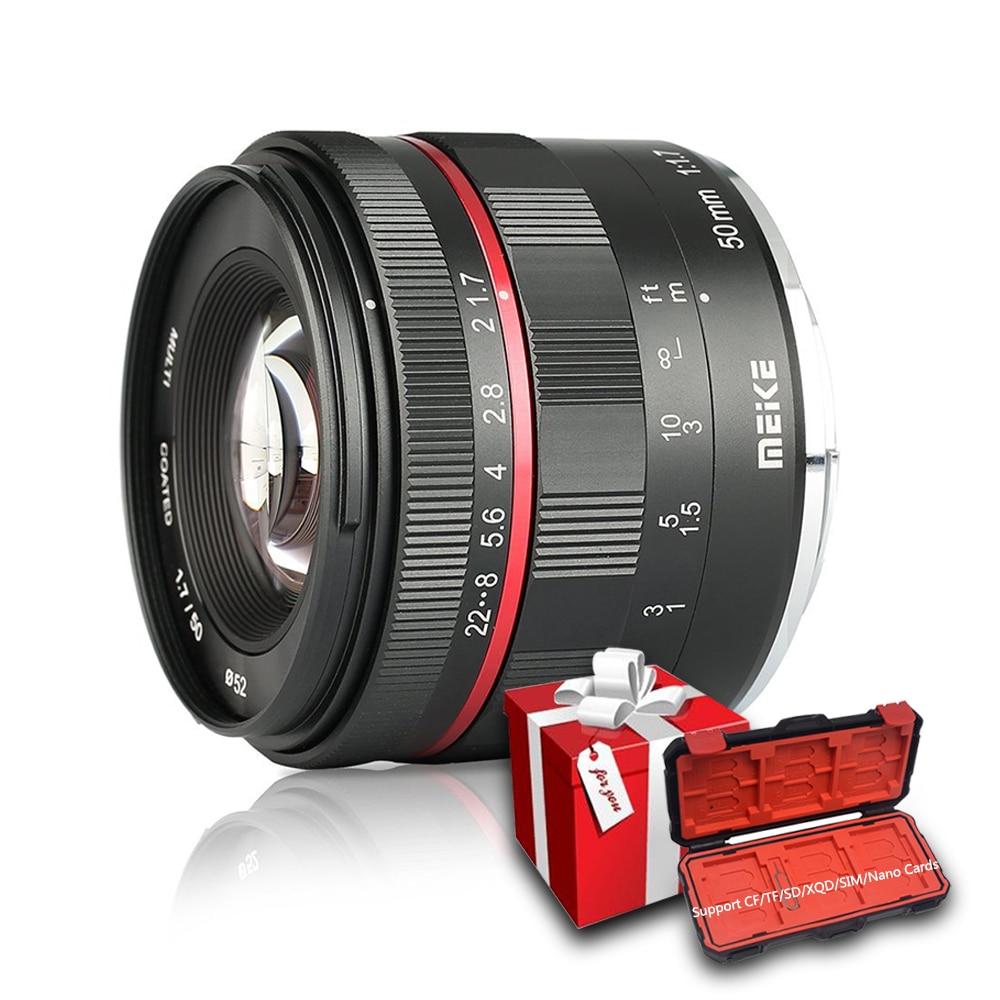 Meike 50mm F1.7 Manual Focus Lens For Sony Alpha E-mount A6300 A6000 A6500 NEX3 NEX7 A7 A7II A7III Full Frame Mirrorless Camera