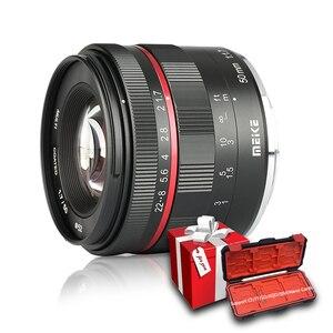 Image 1 - Meike 50 мм F1.7 ручной фокус объектив для Sony alpha E mount A6300 A6000 A6500 NEX3 NEX7 A7 A7II A7III полная Рамка беззеркальная камера