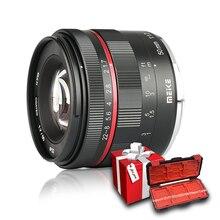 Meike 50mm F1.7 Manuel odak lensi Sony alpha e mount A6300 A6000 A6500 NEX3 NEX7 A7 A7II A7III tam Çerçeve Aynasız Kamera