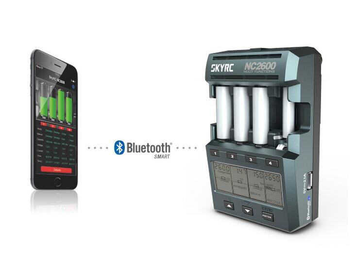 Chargeur SKYRC NC2600 pour analyseur de chargeur de batterie AA AAA avec décharge de Charge de batterie Bluetooth NiMH NiCd stockée