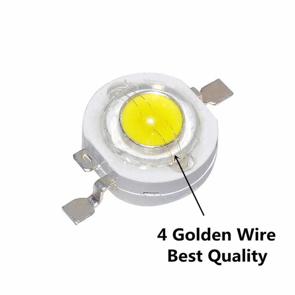 Chip de lámpara LED COB de 10-100 Uds., 1W, 3W, rojo, verde, azul, blanco, Bombilla de diodo SMD LED para luz descendente de foco de proyección LED DIY