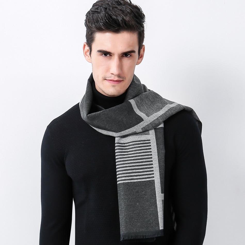 Newest Cashmere Plaid Scarf Man Winter Brand Scarf Men Fashion Warm Luxury Shawl Wrap Bussiness Casual Scarves