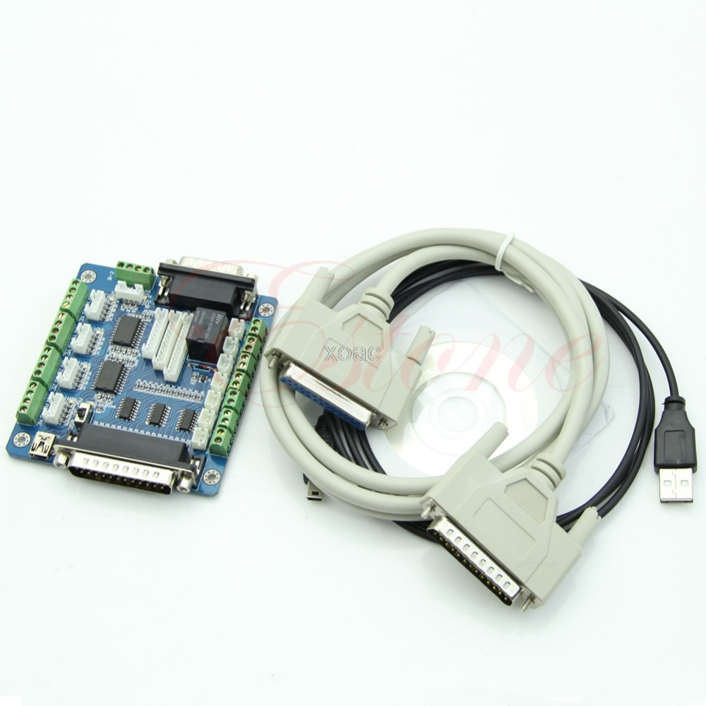 Board Interface Adapter Für Stepper Motor + USB DB25 Kabel 5 Achsen CNC Breakout M06 dropship