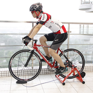 """Image 5 - Rollers para treinamento de ciclismo, treinador para bicicleta, exercícios internos, resistências magnéticas de 26 28 """", estação de fitness, treinador de bicicleta"""