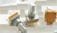 50pcs/lot  Soundwell type EC11 encoder with switch 30 posion number 15 pulse axial length 15mm press stroke 1.5MM