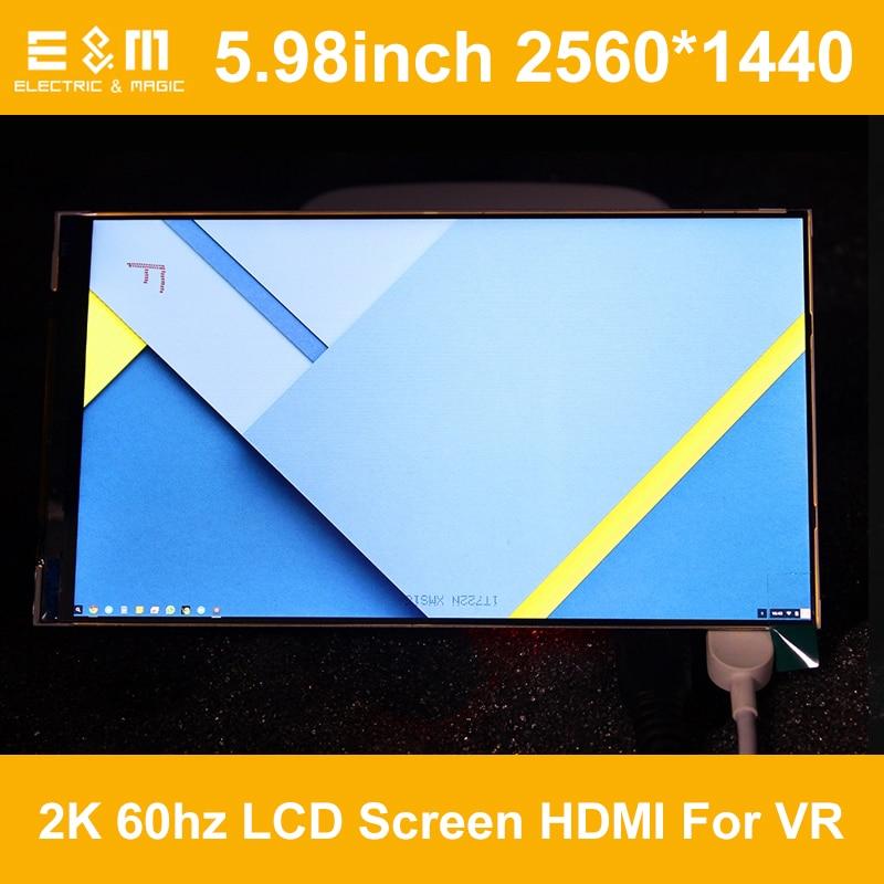 E&M 5.98 inch AUO IPS 2560*1440 2K 60hz LCD Screen HDMI MIPI LTPS Module For DIY VR Headset Oculus Rift DK1 DK2 Virtual Reality