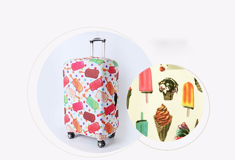 TRIPNUO Thicker Blue City Luggage Cover Travel Suitcase Protective Cover for Trunk Case Apply to 19''-32'' Suitcase Cover 23