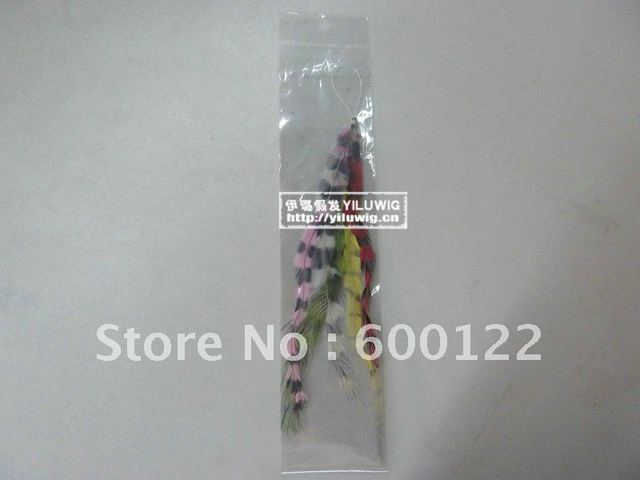 new arrive  natural bird real Feather loop/micro ring Hair Extension ,Feather for hair 200pcs/lot  high quality