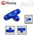 Vr racing-an-10 an10 tee t pedaço adaptador adaptador flare fittings todos do sexo masculino vr-sl824-10-011