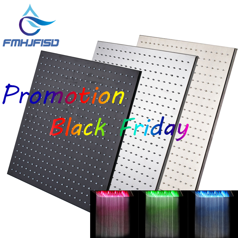 Black Friday Promotion 20 LED Shower Head Saving Water Rainfall Shower Head Ceiling Mouted Top Over-head Spryaer friday nights