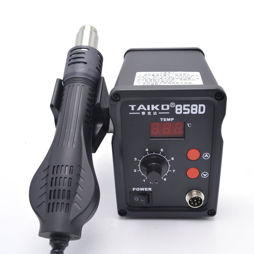 220V 450W 858D Soldering Station LED Digital Solder Iron Desoldering BGA Rework Station Temperature Adjustable Hot Air Gun Sale тонер картридж hp lx610 cyan cn670a