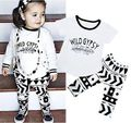 Gypsy Infant Kids Baby Girls Cotton T-shirt Trousers Outfits Clothes Sets Girls Clothing Sets