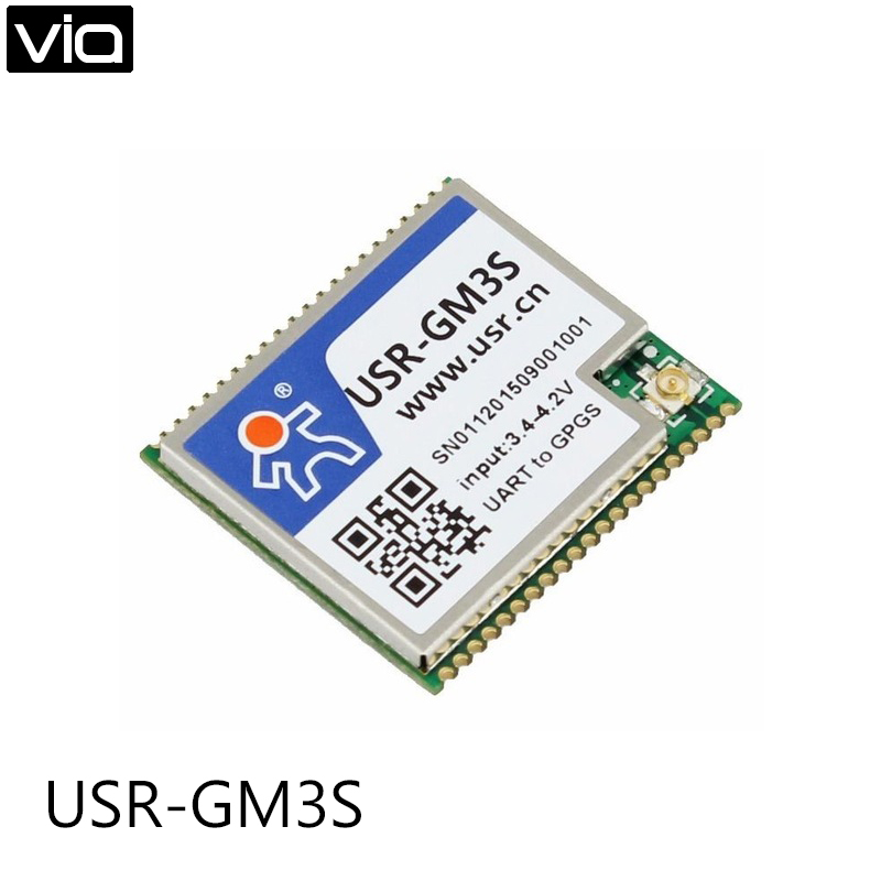 USR-GM3S Free Shipping Industrial Serial GSM/GPRS Module with Built-in SIM Card free shipping 1pcs green gprs tcp ip sim800l module self bomb card slot microsim card gsm sms