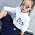 5 6 7 8 9 10 11 12 13 14 15 Years Teenagers Baby Girls Blouse Spring White Tops Long Sleeve Embroidery Cotton Shirt Children