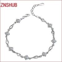 Asking female fashion 925 sterling silver bracelet luxury super flash zircon crystal bracelet wholesale jewelry manufacturers